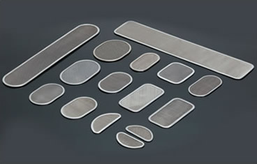 Several different shapes of multilayer screen discs on the black background.