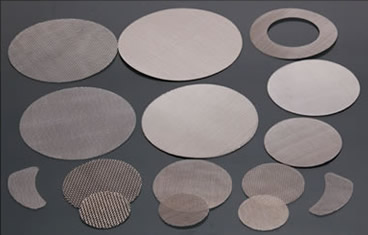 Several different shapes of single layer screen discs on the black background.